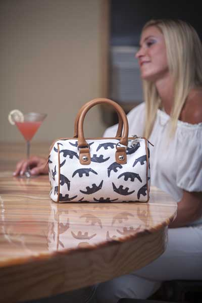 Jules K Luxury Handbags Feature Our Unique Original Anteater Pattern And Are Hand Made In